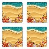Best Las partes inferiores Conchas - Seashells posavasos, juego de cuatro, conchas marinas en Review