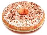 Alsino Donut Kissen Doughnut Dekokissen Sitzkissen Kuschelkissen Donutkissen groß, Variante wählen:Ki-d06 Schoko-Raspeln