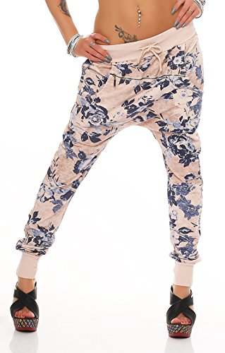 Mr.Shine - Trendy Damen Boyfriendhose Freizeithose Jogginghose Sweat Pants  All-Over Print