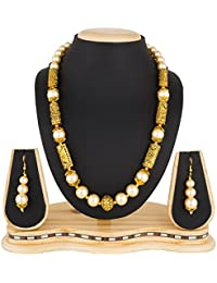 The Luxor Wedding Bridal Jewellery Haram Mala Pearl Necklace Set For Women And Girls