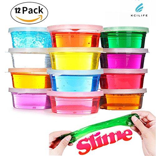 Kciline12PCS Magic Set Slime Kids Toys Children Educational Toys Childrens Toys Pack of 12 Color