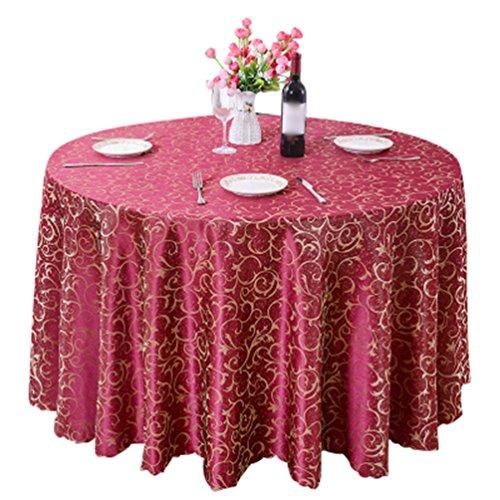 Heheja Rond Rectangulaire Carré Nappe de Table Restaurant fête Satin Nappe Vin Rouge 300cm