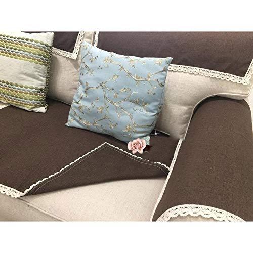 DW&HX Antideslizante Algodón y Lino Sofá Fundas,Resistente a Las Manchas Protector para sofás Cubierta del sofá de Color sólido -café 28x83inch(70x210cm)