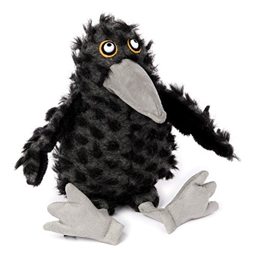 sigikid, Stofftier für Erwachsene und Kinder, Rabe, Tweed Feet, BeastsTown, Schwarz, 38743 Polyester Tweed
