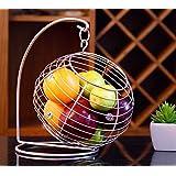 Moda Creativo Salón Continental ondulado Frutero de drenaje cesta de frutas Cocina de acero inoxidable estanterías