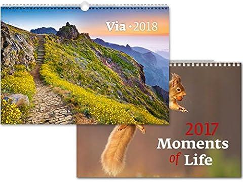 C128-17-18 Kalpa Wall Calendar 2018 Via 45 x 31.5 cm + Buy 1 Get 1 free Calendar C128-17