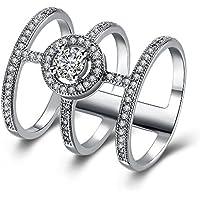 multi-Row largo dedo anillo mujeres moda joyería novia Set Regalo Para Madre Cumpleaños