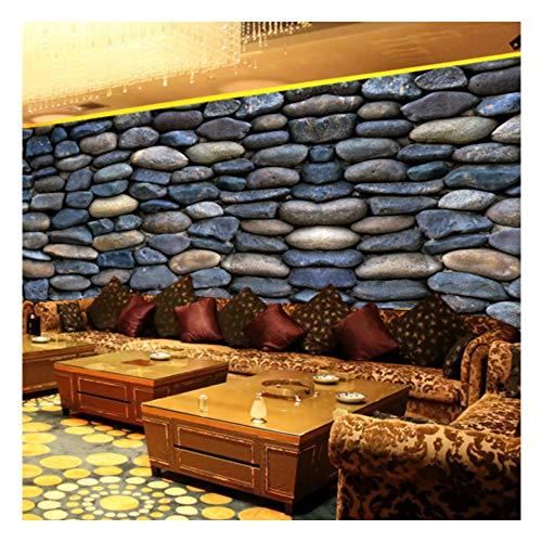 Meaosy Benutzerdefinierte Großes Wohnzimmer Sofa Wandbild 3D Wallpaper 3D Pic Hintergrund 3D Wallpaper Ktv Bar Café Kultur Stein-400X280Cm