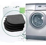 HENGSONG 4pcs Schwarz Multifunktionale Waschmaschine Shock Pads Anti Rutsch Matten Kühlschrank Shock Mute Pad