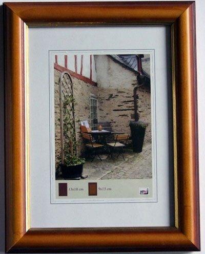 Rahmen Urkunde Holz A4 21x30 cm mit Goldinnenkante (kirsche) - Kirsche Rahmen