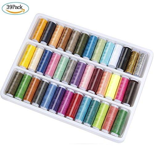 ZWOOS Nähgarn mit 39 Farben Polyester Nähmaschinengarn 200 Yard Sewing Thread Nähset DIY