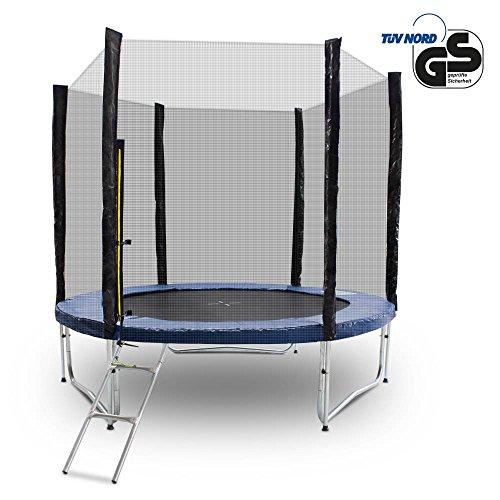 Gartentrampoline-Trampoline-Outdoor-Trampoline-Fitness-Trampoline-185cm-bis-490cm-inkl-Randabdeckung-Sicherheitsnetz-und-Leiter
