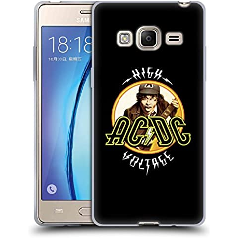 Ufficiale AC/DC ACDC High Voltage Titoli Canzoni Cover Morbida In Gel Per Samsung Z3