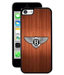 Fuson 2D Printed Bentley Car Logo Designer Back Case Cover for Apple iPhone 5C - D812