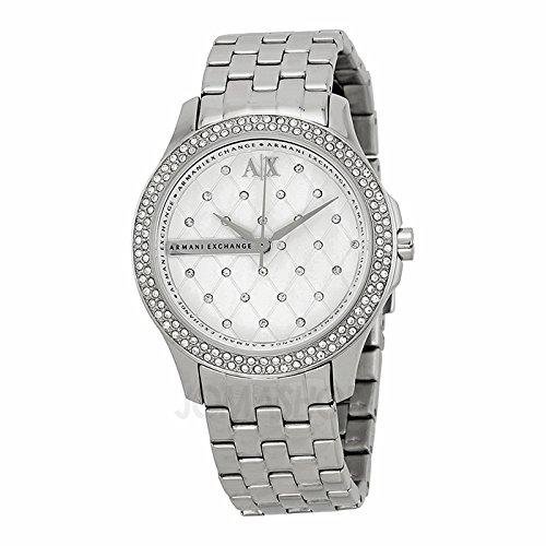 Armani Exchange Armani Intercambio Lady Hamilton Plata Acolchado Dial Acero inoxidable Acero Damas Reloj AX5215