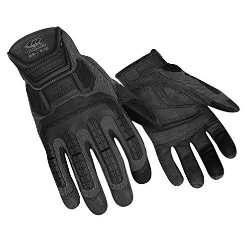 Ringers r-14Mechaniker Handschuhe, Light Duty Auswirkungen Handschuhe, Cut Proof (schwarz), 143-10