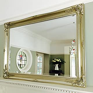 Ayers and Graces Large Classic Champagne Silver Swept Mirror (3ft 6