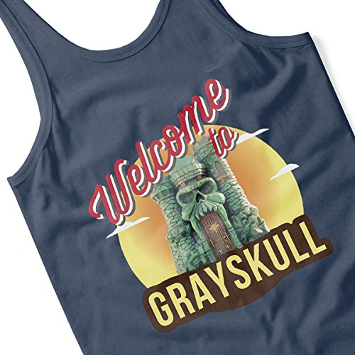 Welcome To Greyskull He Man Masters Of The Universe Men's Vest Navy Blue