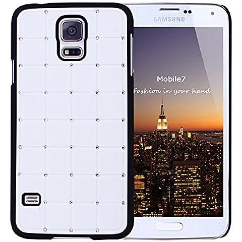 Buona qualità Samsung Glaxay S4 Mini CRISTALLO DI LUSSO Croce White Diamond Bling duro della copertura con la pagina nera per Samsung Glaxay S4 Mini
