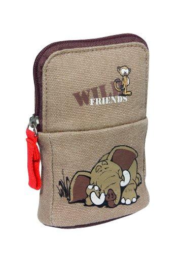 wholesale dealer bafff 3381a NICI 33065 - Custodia per cellulare con scimmia ed elefante in plastica,  12,5x8