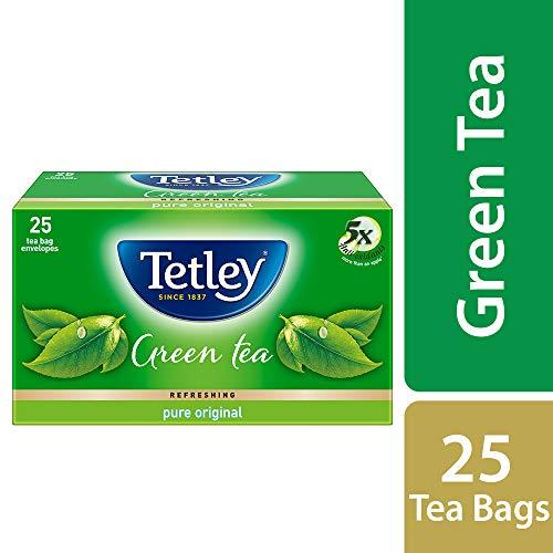 Tetley Pure Original Green Tea, 25 Tea Bags with 5 Tea Bags Extra