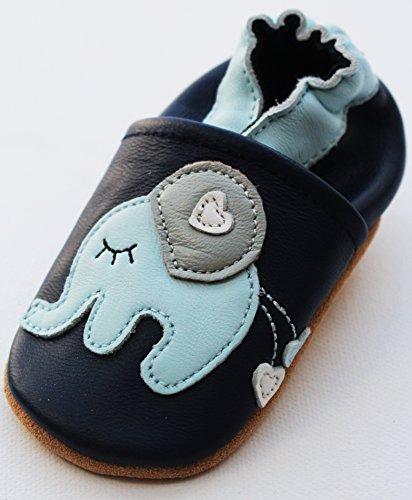 Engel und Piraten Krabbelschuhe Elefant blau