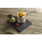 Juego de 4 cestas de servir estilo gastropub y cesta de colador gruesa para accesorios de cocina