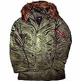Alpha Industries Herren-Jacke für extrem kaltes Wetter, N3B Parka Gr. xl, grün