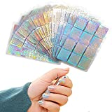 Nahuaa 288 Pezzi 96 Disegni Vinili Unghie Differenti Set d'Unghie Adesivi Stencil Arte Decorazioni per Unghie Naturali Finte Nail Art Fai da Te Donna Ragazza 24 Fogli