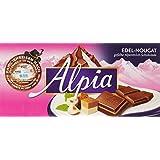 Alpia Schokolade Edel Nougat, 20er Pack (20 x 100 g)
