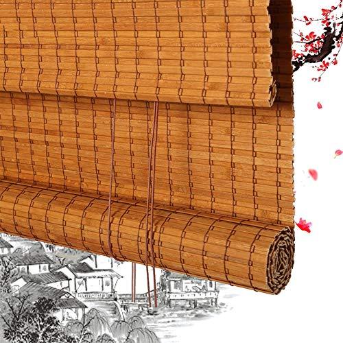 HAIPENG-Bambusrollo Rollo Bambus Raffrollo Sichtschutz Rollos Holzrollo Fenster Schattierung Lichtfilterung Zum Veranda Balkon Terrasse Angepasst (Color : A, Size : 150x220cm)