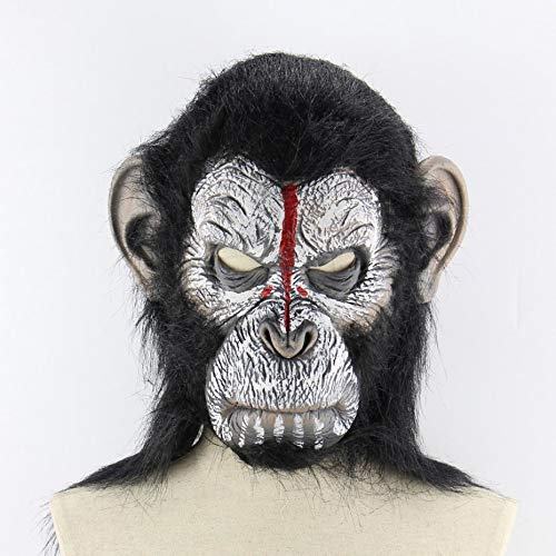 Planet der Affen Halloween Cosplay Gorilla Maskerade Maske Monkey King Kostüme Caps Realistische Monkey Mask