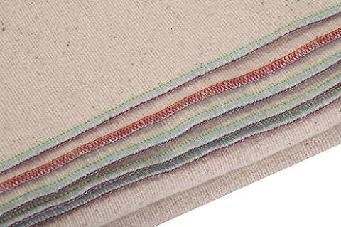 Kanyoga White Brushed Indian Meditation Cotton Blanket(157cm x 230cm), 1 Piece