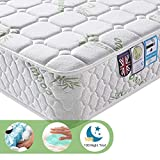 Lv. life Double Bamboo Fiber Mattress, 4FT6 Double Pocket Sprung and Memory Foam