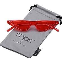 SOJOS Moderne Katzenaugen Rahmen Sonnebrille Damen Cat Eye Sunglasses SJ2046
