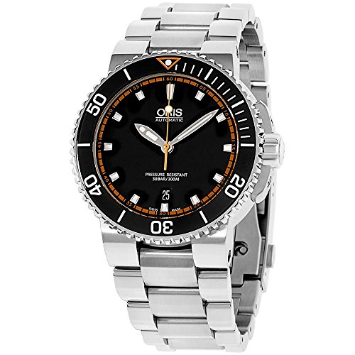 Oris Aquis da uomo 43 mm Steel Bracelet & case Automatic Watch 73376534128 MB