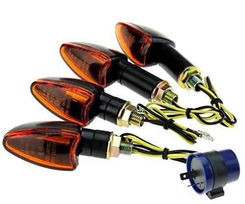 4pcs Mini Blinker Motorrad Roller Licht Indikatoren Lichter 12V +Relais