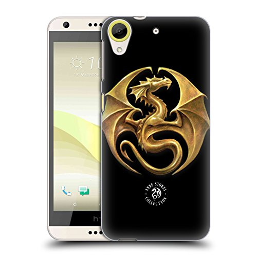 Official Anne Stokes Dragon Medal Fire Tribal Hard Back Case for HTC Desire 650