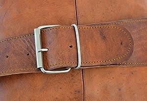 Gusti Leder M11 - Bolso bandolera de piel (22 x 30 x 16 cm), color marrón de Gusti Leder