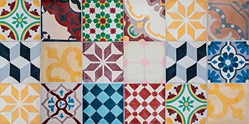 VINILIKO Vintage Tiles Alfombra de Vinilo