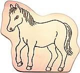 Hofmeister Holzwaren Kinder-Schneidbrett mit Tiermotiv Pferd