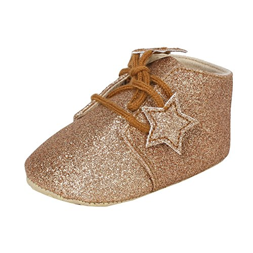 abdc kids Infant Boys Shinning Party Wear Brown Shoes-Length-13 Cm Age- 6 -12 Months