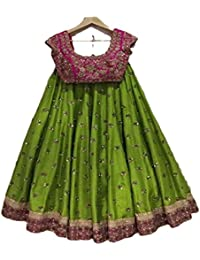 New Latest For Women For Party,Wedding Or Festival Embroidery Work Salwar Suit(Green _Free Size)