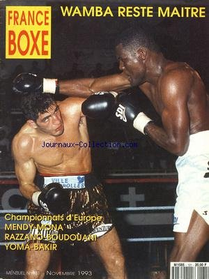 FRANCE BOXE [No 131] du 01/11/1993