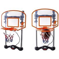 deAO Juego de Baloncesto Infantil – Tablero para Colgar en la Puerta Incluye Temporizador y Efectos de Sonido