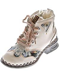 142eed9d7c Leder Damen Winter Stiefeletten Comfort Knöchel Schuhe TMA 5171 Schwarz Weiß  Blau Rot Boots gefüttert