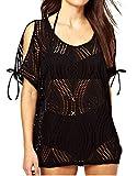Damen Tunika Strandkleid Netzshirt Style Schwarz Bademode Sommer Bikini Größe S/M/L