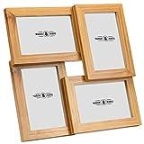 """4 Cornice per foto   Quattro 6x4 """"Cornice per foto in legno con apertura   Multi Picture Frame Free Standing o Parete   M&W"""