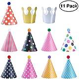 NUOLUX 11pcs Chapeaux Anniversaire pour Enfants Adult Party Chapeaux Décorations
