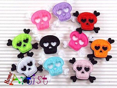 Totenkopf lustige Haarspange für Babys und Kleinkinder - freie Farbwahl